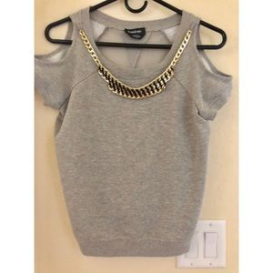 Cotton top with collar Bebe XS